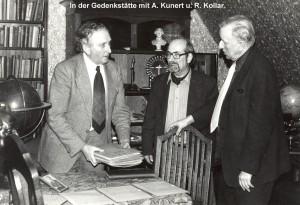 In der Bürgel-Gedenkstätte Potsdam: R. Kollar, A. Kunert und A.Zenkert (v. re.).